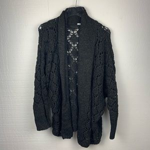 Kimchi Blue Dark Gray Chunky Knit Cardigan Sweater